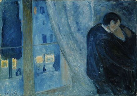 Munch, Edvard: Kiss by the Window. Fine Art Print/Poster. Sizes: A4/A3/A2/A1 (00880)